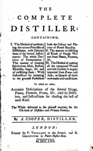 The Complete Distiller by Ambrose Cooper (1757)