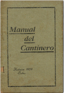 Manual del Cantinero  by León Pujol and Oscar Muñiz (1924)