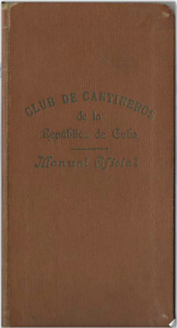 Club de Cantinero de la Republica de Cuba: Manual Oficial by Gerardo Corrales (1930)