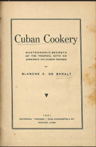 Cuban Cookery by Blanche Z de Baralt (1931)