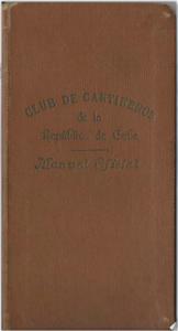 Club de Cantinero de la Republica de Cuba: Manual Oficial by Gerardo Corrales (1930)
